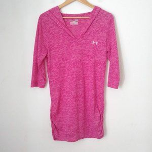 Under Armour Semi Fitted Pink 3/4 Sleeves Shirt